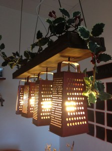 DIY grater light