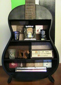 DIY guitar shelf