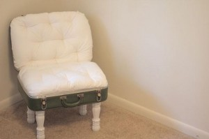 DIY suitcase chair 2